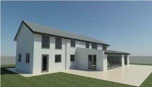 low pitch standing seam roof - Rendering - 3D View 3_7