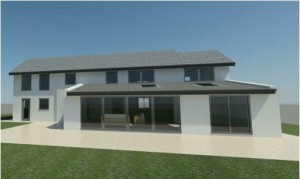 low pitch standing seam roof - Rendering - 3D View 3_9